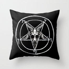 Sigil of Baphomet Black Throw Pillow