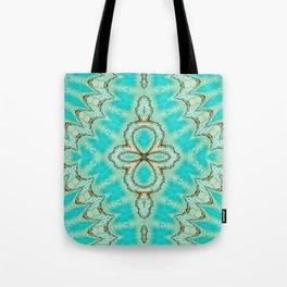 Seamless Kaleidoscope Colorful Pattern LV Tote Bag