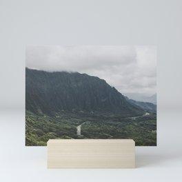 Through the Green Mountain - Hawaii Mini Art Print
