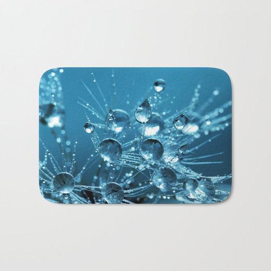 Sparkling drops on a Dandelion Bath Mat