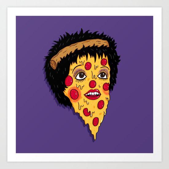 Pizza Minnelli Art Print