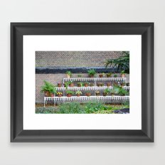 Pots and plants Framed Art Print