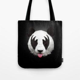 Kiss of a panda Tote Bag