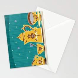Retro coffee for one illustration Stationery Cards