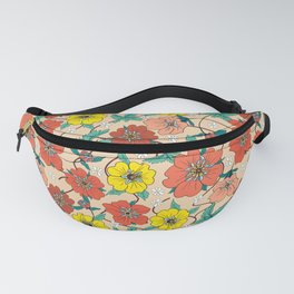 Potentillas and Daisies Fanny Pack