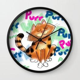 Purr! Wall Clock