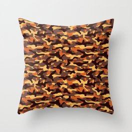 Fall Camouflage Throw Pillow