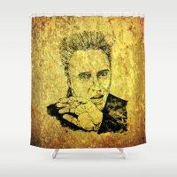 christopher walken Shower Curtains featuring Christopher by Rabassa