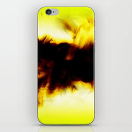 Hole In My Heart Black White Yellow Abstract iPhone Skin