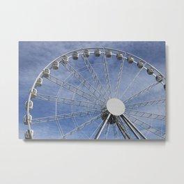 Fun wheel carousel Metal Print