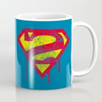 superheros Mugs featuring Superzombie by Nxolab