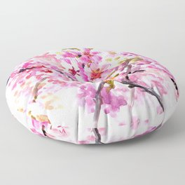 Cherry Blossom pink floral texture spring colors Floor Pillow