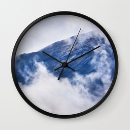 Cloudy Mountain in Haleakala National Park Wall Clock