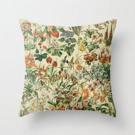 french vintage 1800s adolphe millot Throw Pillow