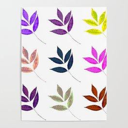 Leaf Pattern Anthropologie inspired boho gypsy decor Poster