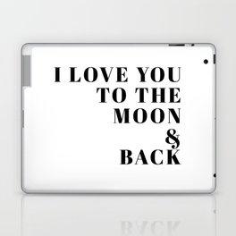 moon & back Laptop & iPad Skin