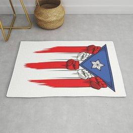 Puerto Rico Flag - Boricua Raised Fists Rug