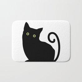 Black cat looking you #society6 #decor #buyart #artprint Bath Mat