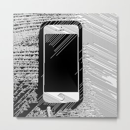iPhone 5 Wolfram Rule 126 Metal Print