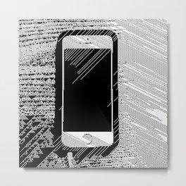 iPhone 5 Wolfram Rule 126 Metal Print