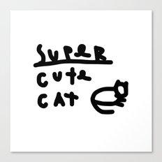 super cute cat Canvas Print