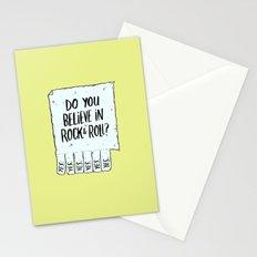 Believe in Rock & Roll Stationery Cards