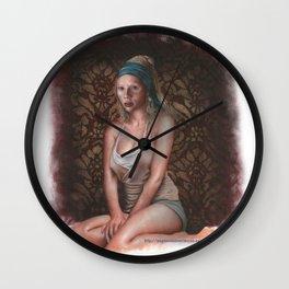 Scarlett Johansson is the pearl girl Wall Clock