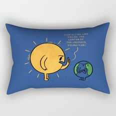 You Are Not The Center Of The Universe, Young Man ! Rectangular Pillow