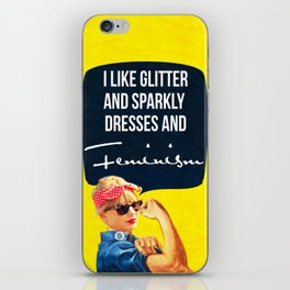 I like glitter and sparkly dresses iPhone Skin