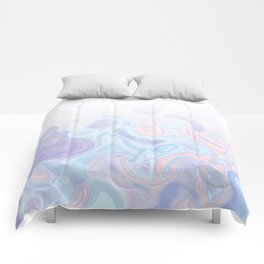 Liquid Pastel Marble Ombre 1. lilac, nude and aqua #pastelvibes #homedecor #buyart Comforters