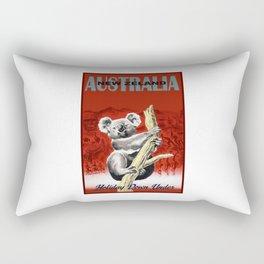 1950 Holiday Down Under Australia New Zealand Travel Poster Rectangular Pillow
