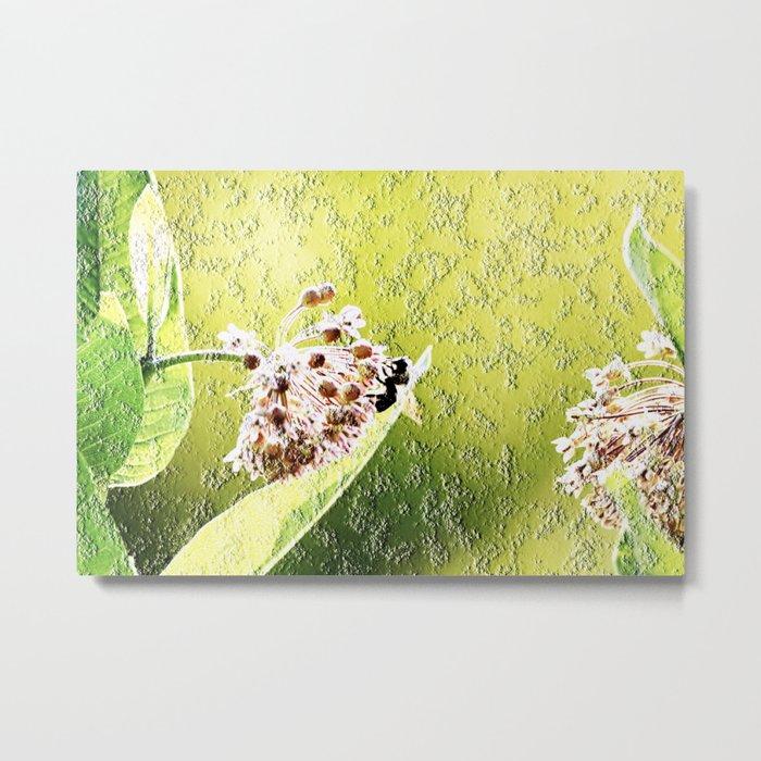 Blooming in the morning (granite) Metal Print