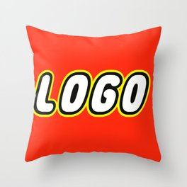 LOGO in Brick Font Logo Design by Chillee Wilson Throw Pillow