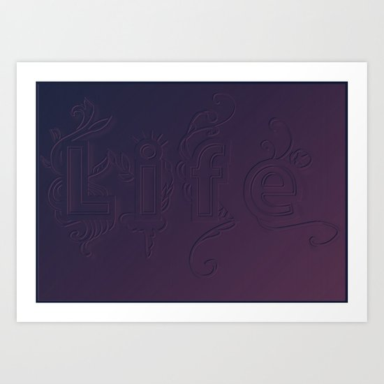 Purple Life Art Print
