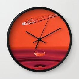 Water Drop Collision Wall Clock