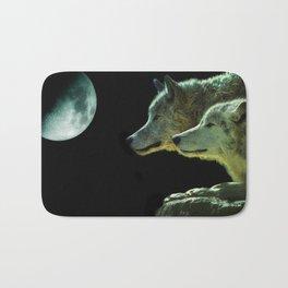 Moonlight Wolves Bath Mat