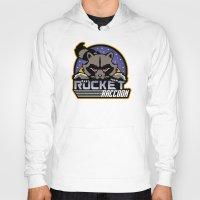 rocket raccoon Hoodies featuring Rocket Raccoon logo by Buby87