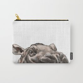 Peeking Baby Hippo Carry-All Pouch