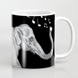 Silver Color singing Song Elephant Gift Coffee Mug