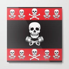 Skull n Pistons Classic Metal Print