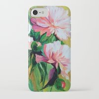 peonies iPhone & iPod Cases featuring Peonies by OLHADARCHUK