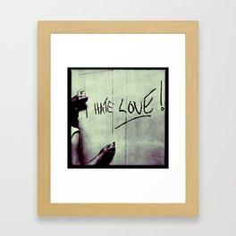 Hate Love Framed Art Print