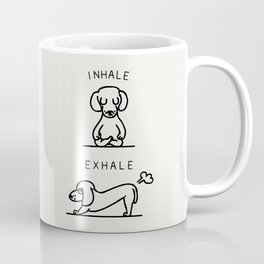 Inhale Exhale Dachshund Coffee Mug