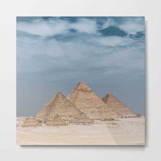Giza Pyramid Complex Metal Print