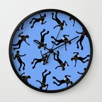 scuba Wall Clocks featuring Scuba Divers by elledeegee