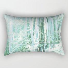 Cool Blue Bamboo Rectangular Pillow