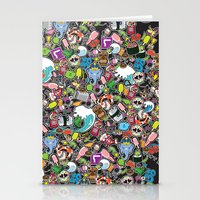 sticker Stationery Cards featuring Sticker Bomb by thickblackoutline