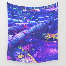 Logs of Colour Wall Tapestry