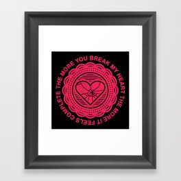 Shattered Hearts Badge Framed Art Print