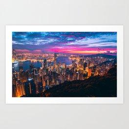 Sunset City (Color) Art Print